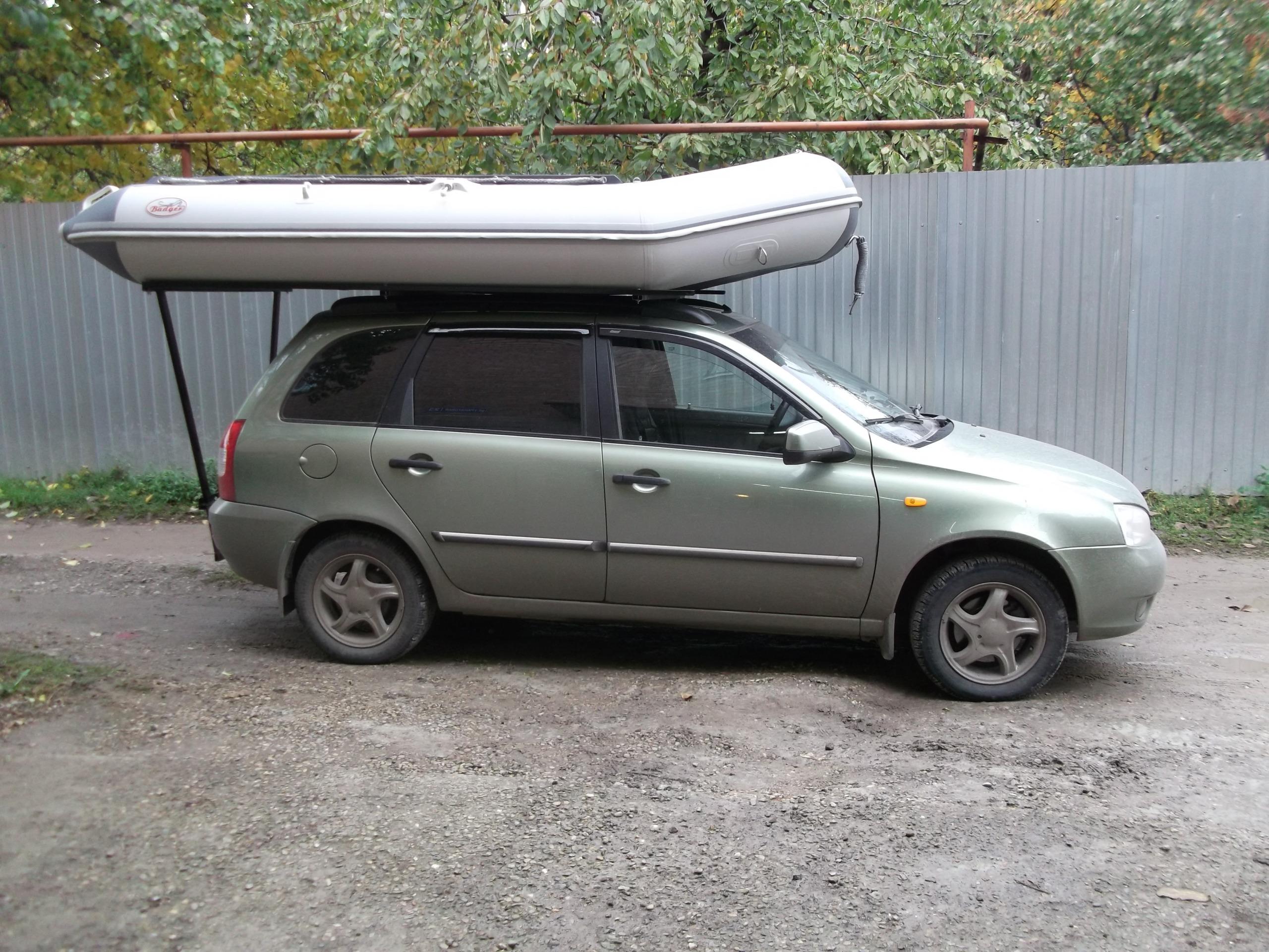 перевозка пвх лодки на багажнике автомобиля