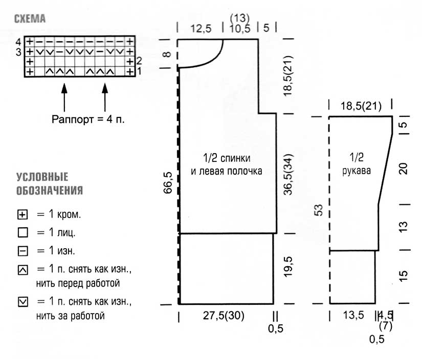 Вязание длинного кардигана по схемам