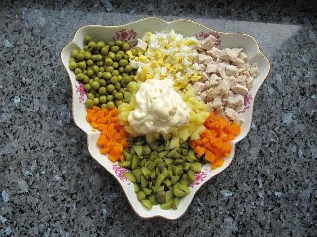 Рецепт и салата оливье
