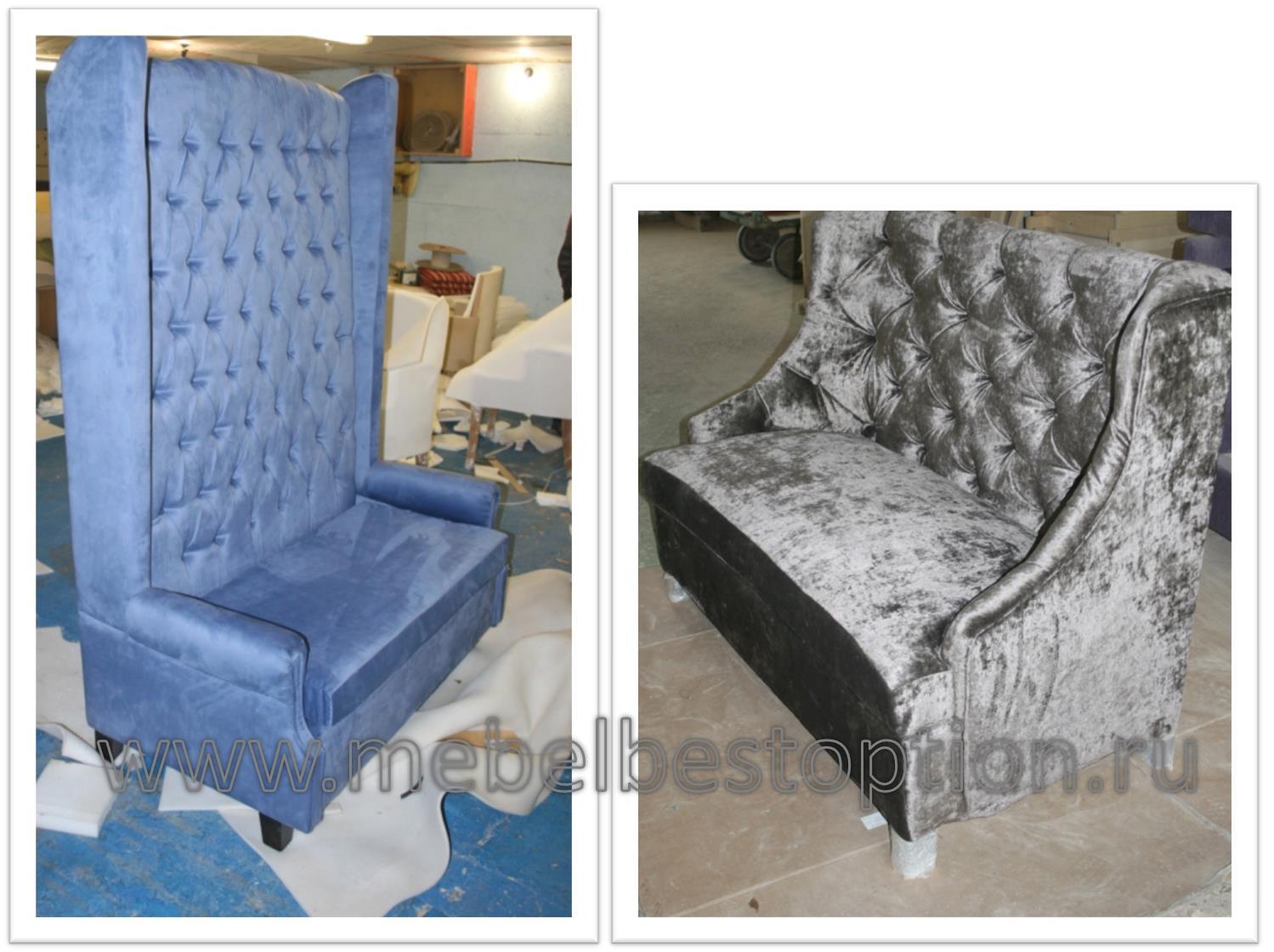 Производство диванов капитоне