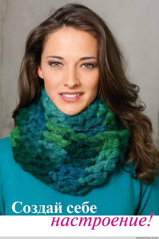 Как связать женский шарф снуд спицами для начинающих 1