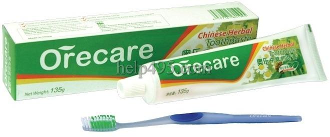 Описание продукции Тяньши: Зубная паста Orecare с экстрактами китайских целебных трав