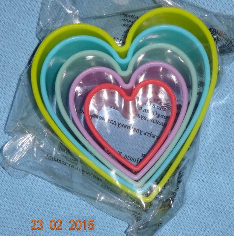 Изысканная выпечка №79 Формы для печенья-сердечки