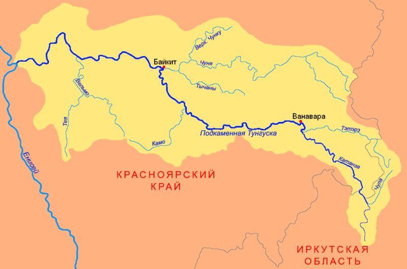Часть реки выше впадения р.