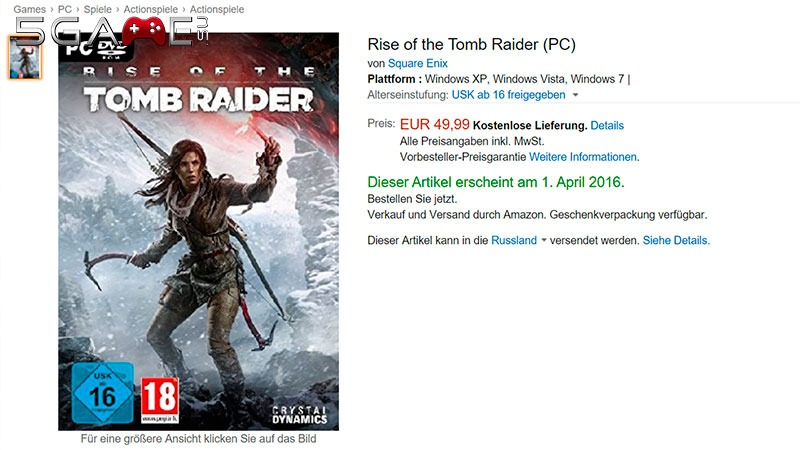 rise of the tomb raider купить
