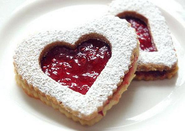 Печенье в виде сердца рецепты