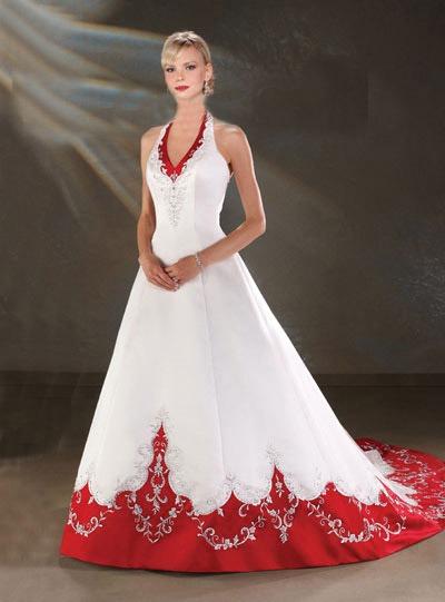 Изобр по > Красные Пышные Свадебные Платья
