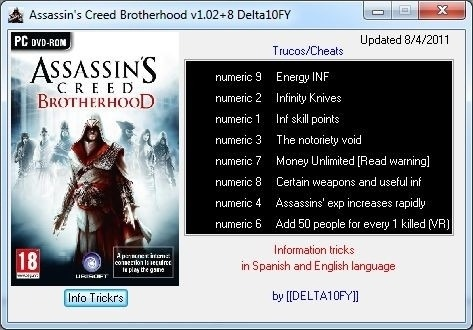Nodvd для assassins creed brotherhood-Читы Assassin s Creed : Brotherhood ч