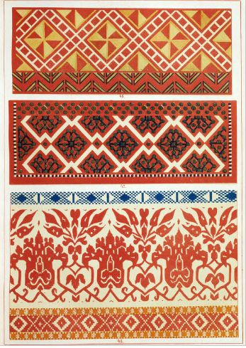 Русские народные узоры росписи