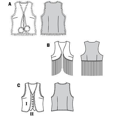 Одеваемся со вкусом.  Выкройка жилетки .  Кройка, шитье, вязание - способы и приемы.