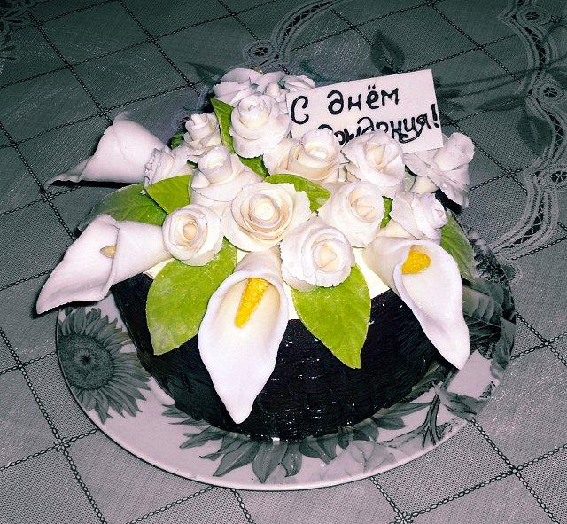 фото торт-букет из кал