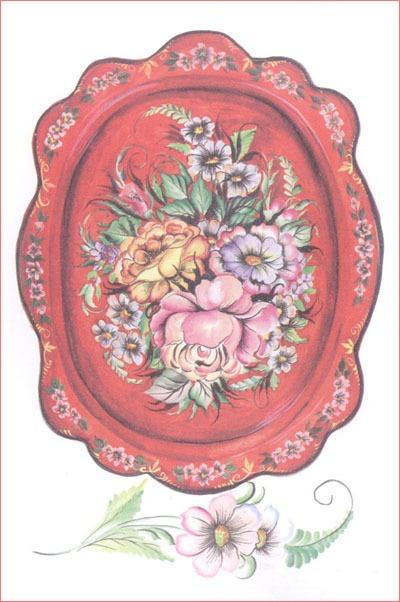 Раскраска жостовская роспись