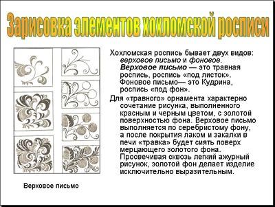Рассказ о хохломской росписи детям