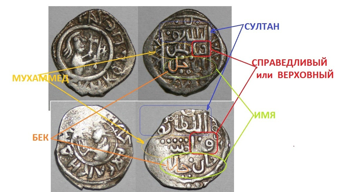Что было на монетах дмитрия донского: тохтамыш, или мухаммед.