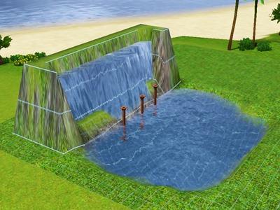 Как сделать водопад для симс 3