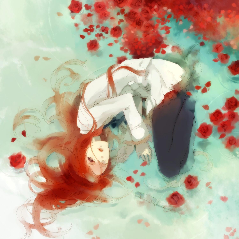 Аниме парень и девушка рыжие волосы