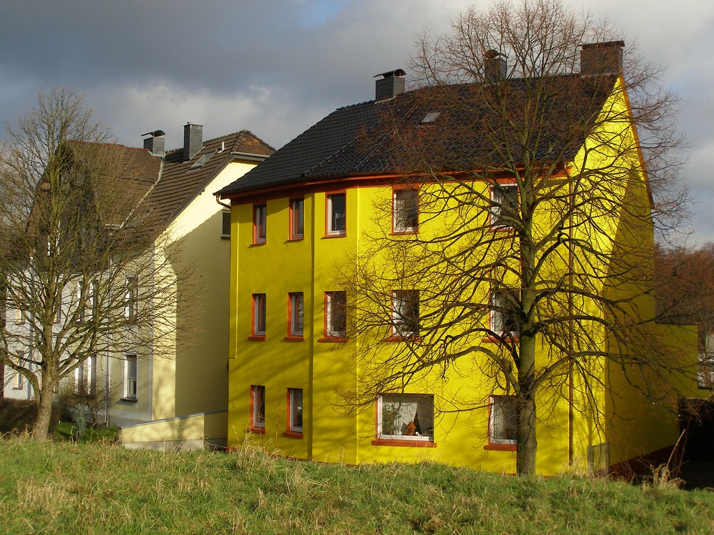 Желтые дома фото