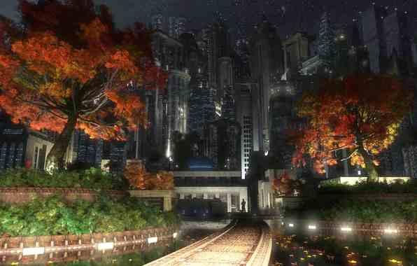 Осень городе обои на рабочий стол