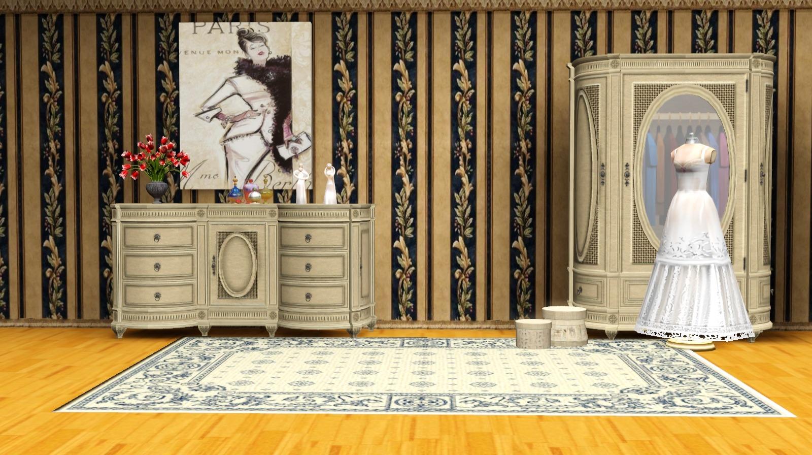 Victorian Walls by Ladesire. Текстуры взяты из The Sims 2/ Textures were taken from The Sims2 & Ladesire\u0027s creative corner): Victorian Walls by Ladesire