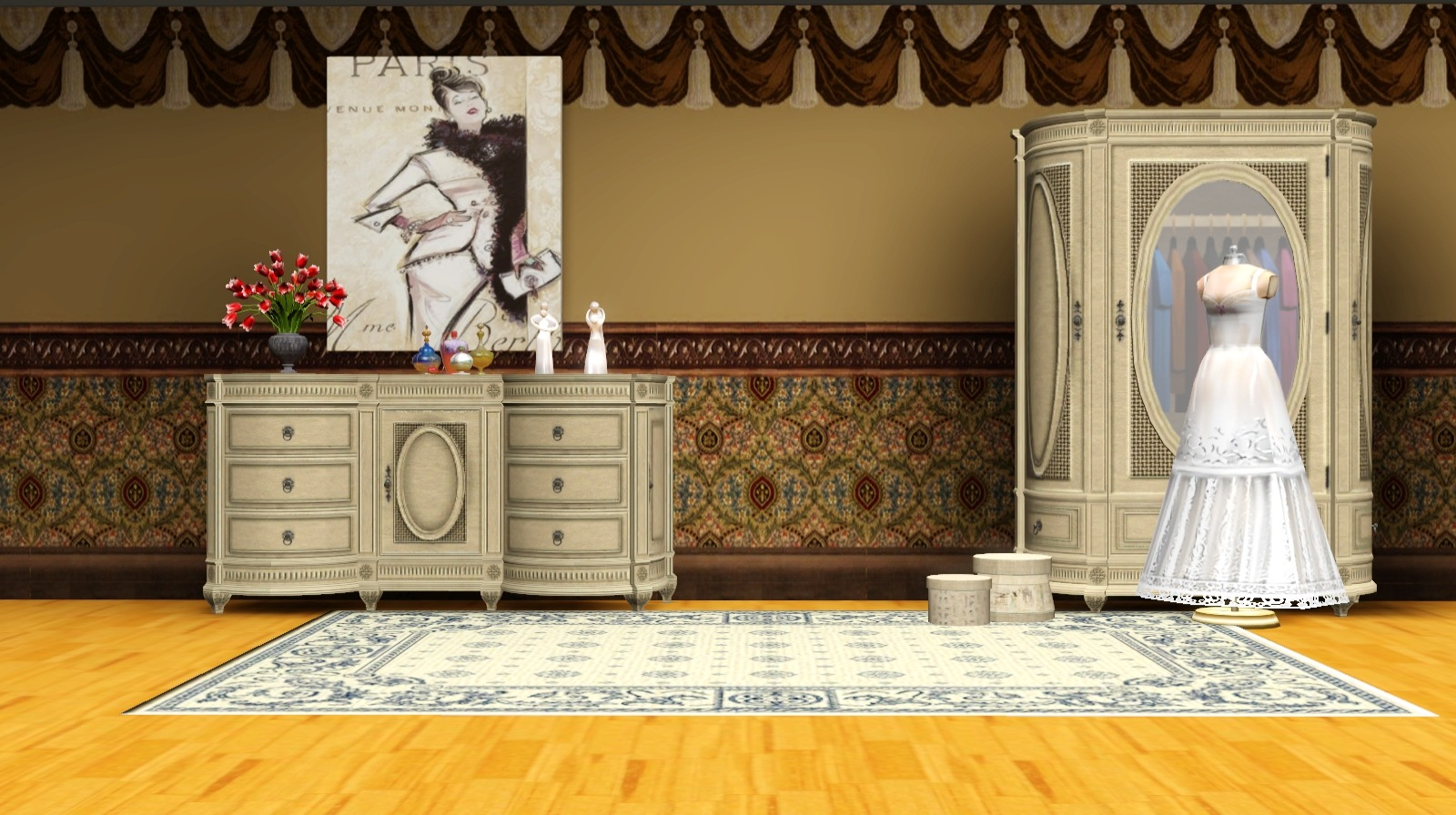 Victorian Walls by Ladesire.    The Sims 2/ Textures were  taken from The Sims2