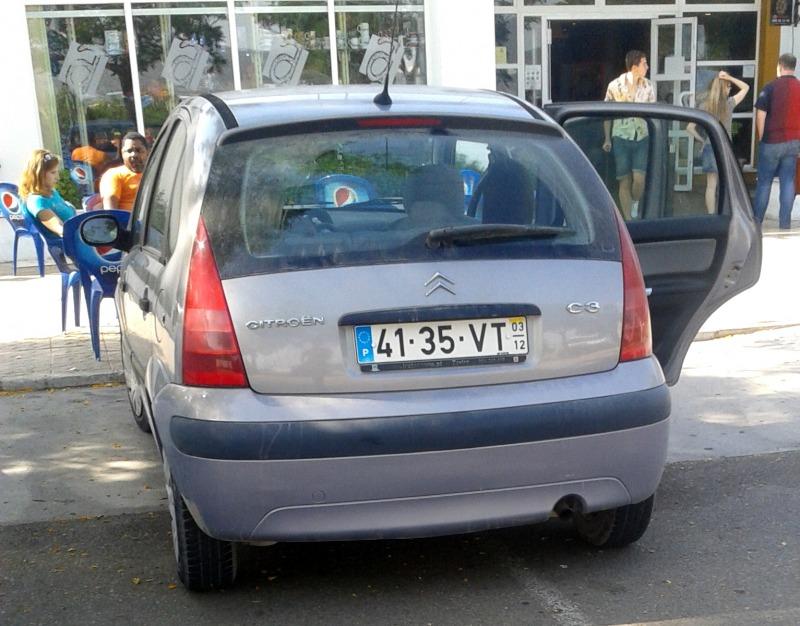Номерные знаки автомобилей португалии