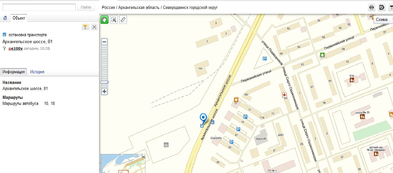 Архангельск схема автобуса 133