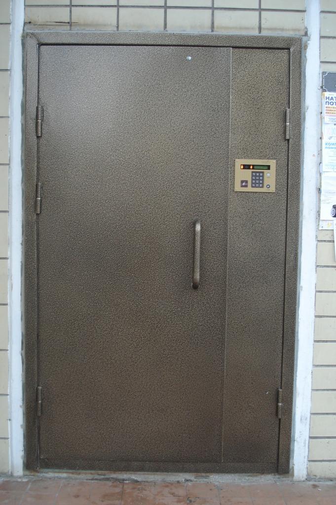 дверь входная в тамбур с домофоном