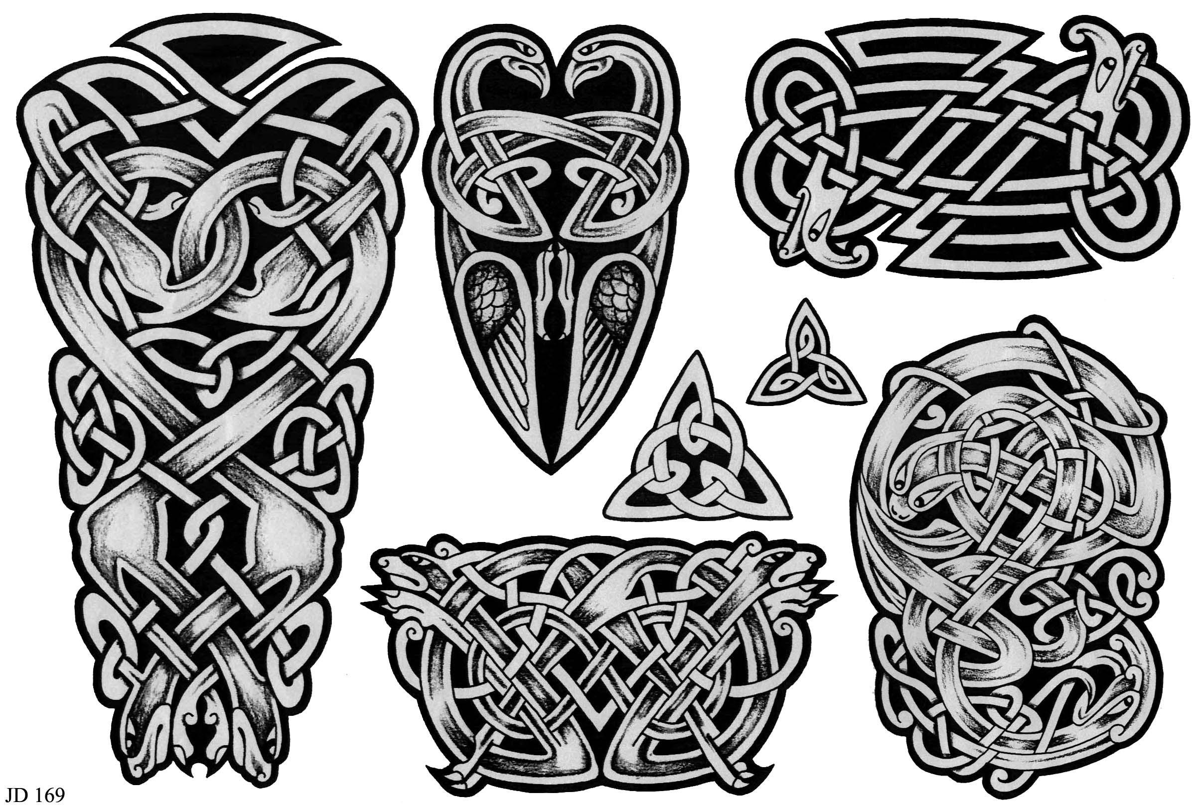 Кельтский рисунок тату