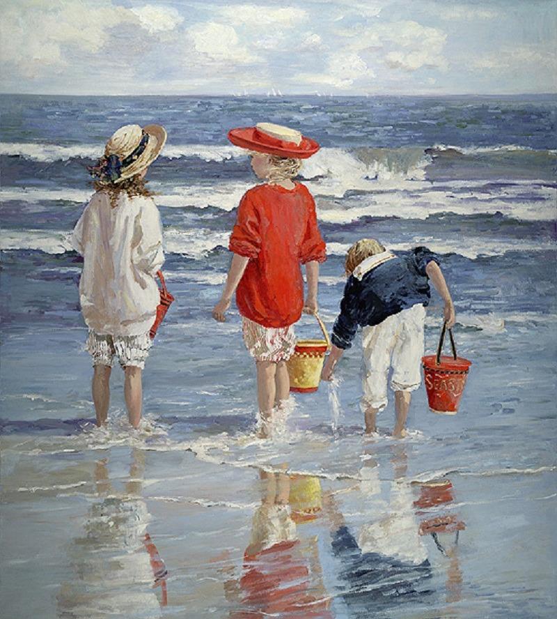 Favorito Il mondo di Mary Antony: I bambini sulla spiaggia di Sally Swatland VG67