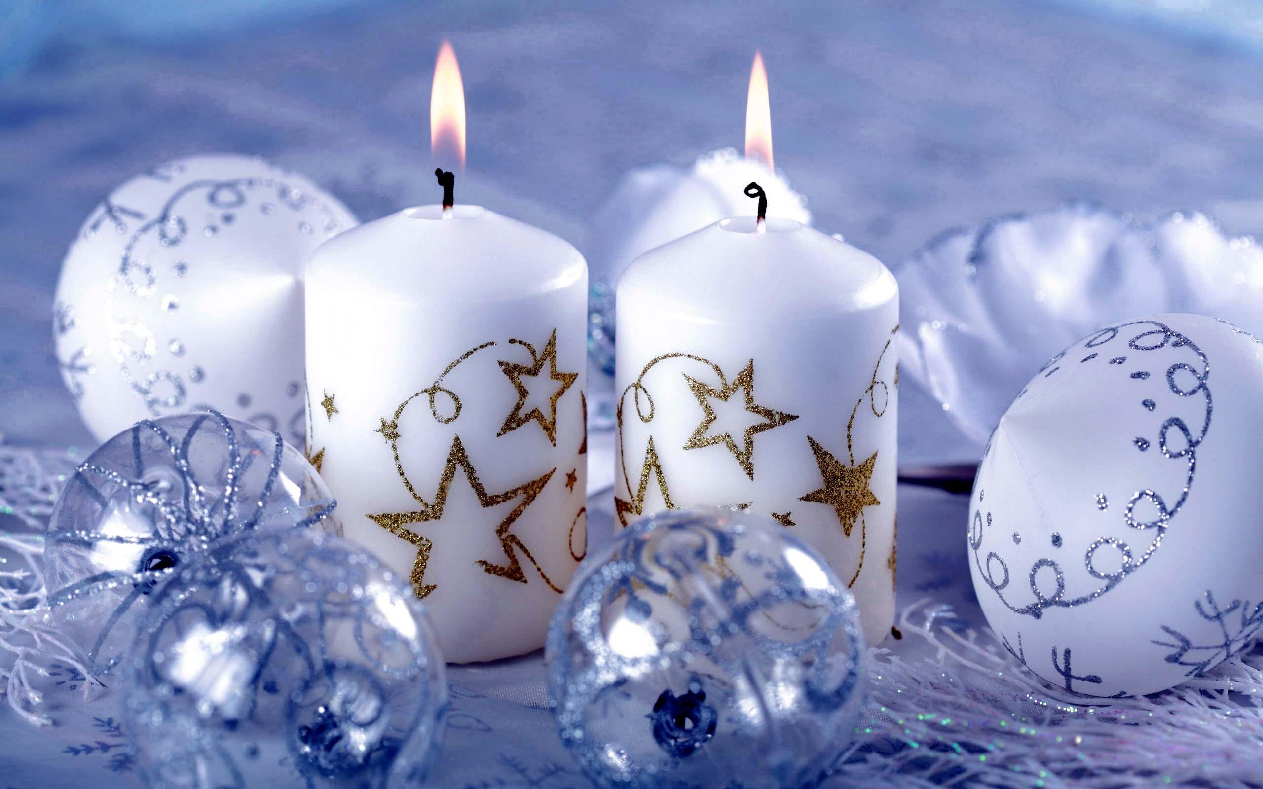 Новогодние свечи обои для рабочего стола