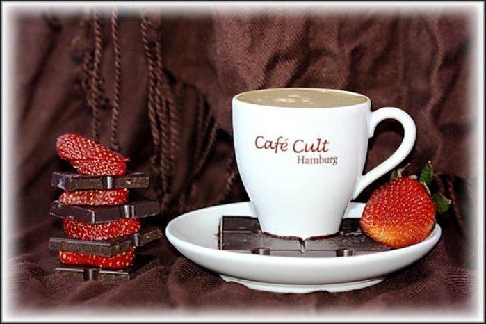 Открытки украшенные кофе