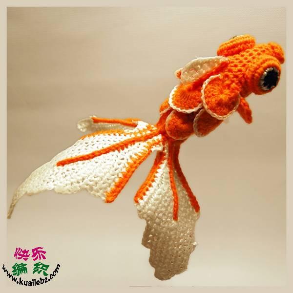 Вязание крючком.Золотая рыбка.