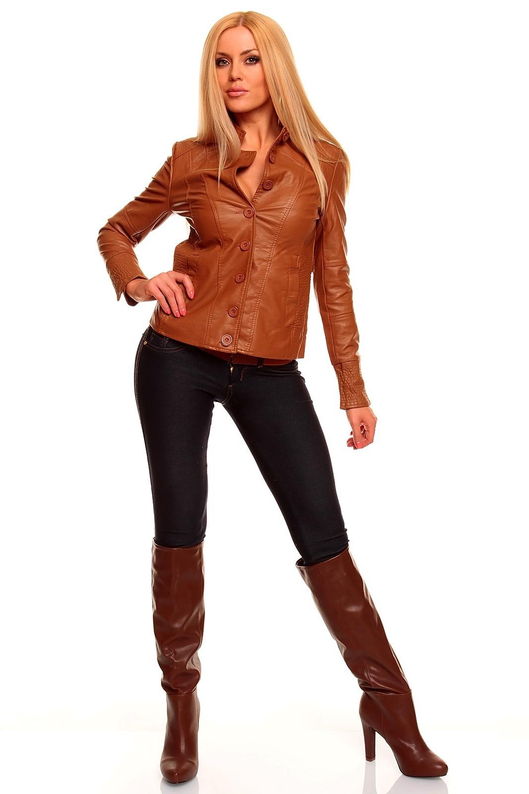 Рыжие девушки в кожаной куртке 12 фотография