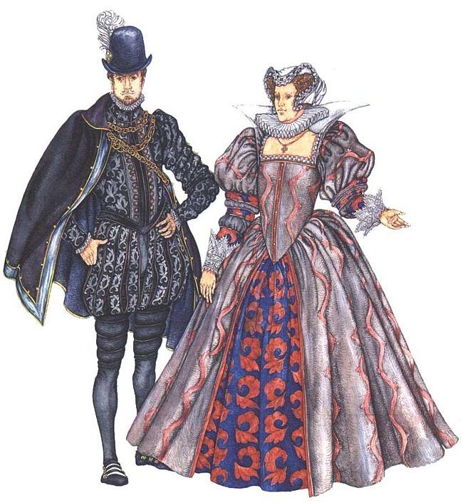 Одежда Германии в эпоху Возрождения . Женский костюм первой трети XVI