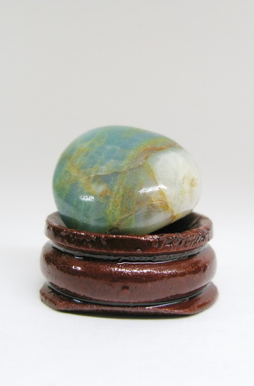 Энергия камней № 104 Голубой опал  (окатанный камень) фото, обсуждение
