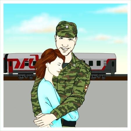 Рисунок парню из армии