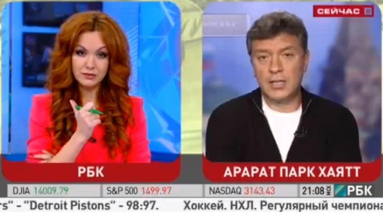 Немцов назвал Путина «жуликом и вором» в эфире федерального телеканала РБК