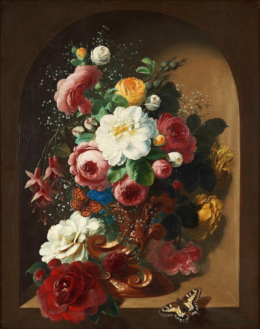 красивые натюрморты с цветами: