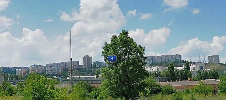 Вид на микрорайон Маршала Жукова,симферополь