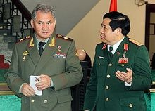 Russian Defense Minister Sergei Shoigu and Vietnamese Defence Minister Phung Quang Thanh