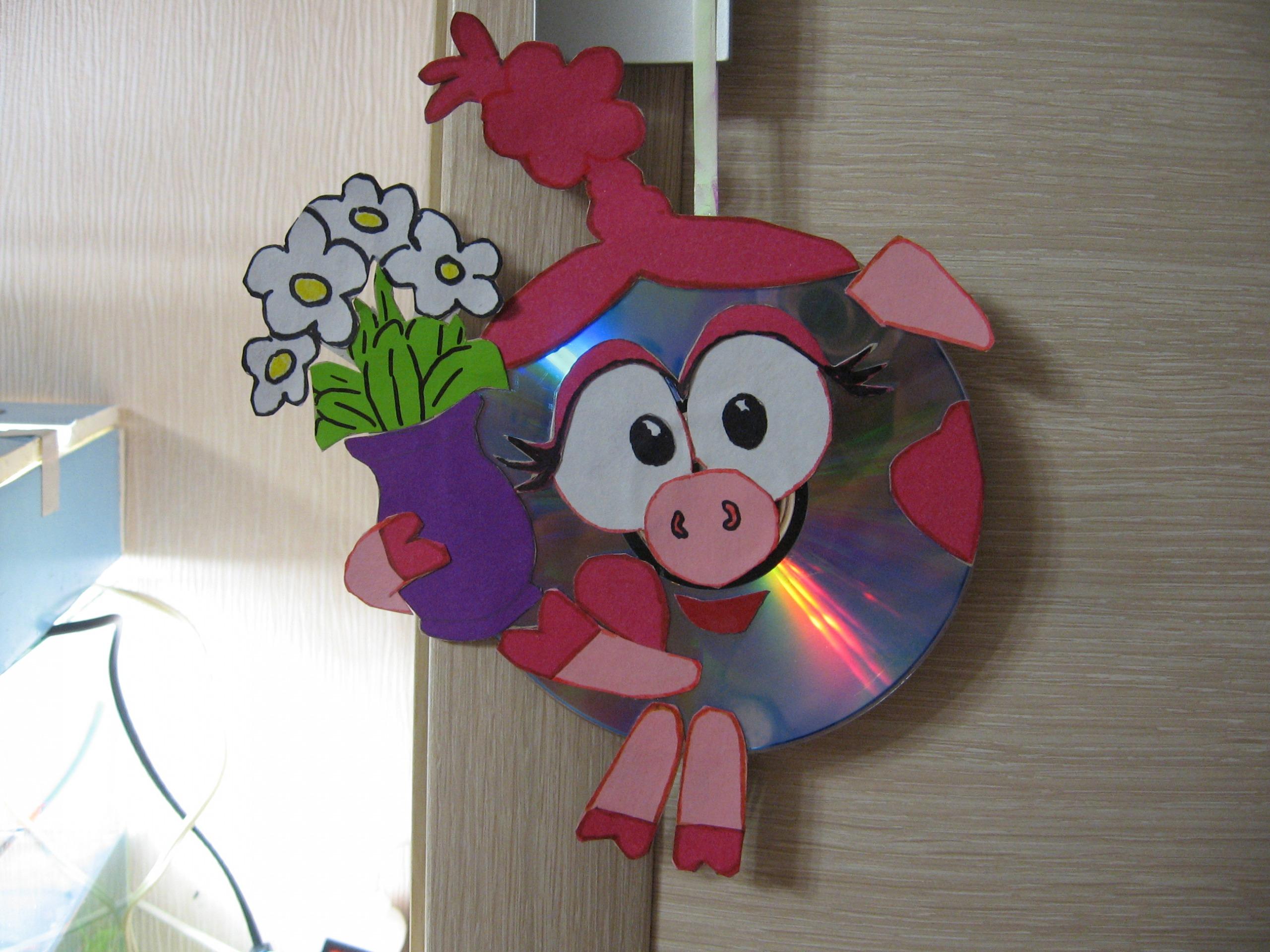 Как сделать смешарика из дисков