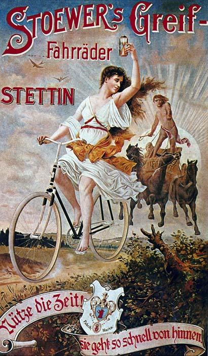 Велосипеды в винтажной рекламе Постеры Плакаты