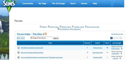 официальный форум the sims 4