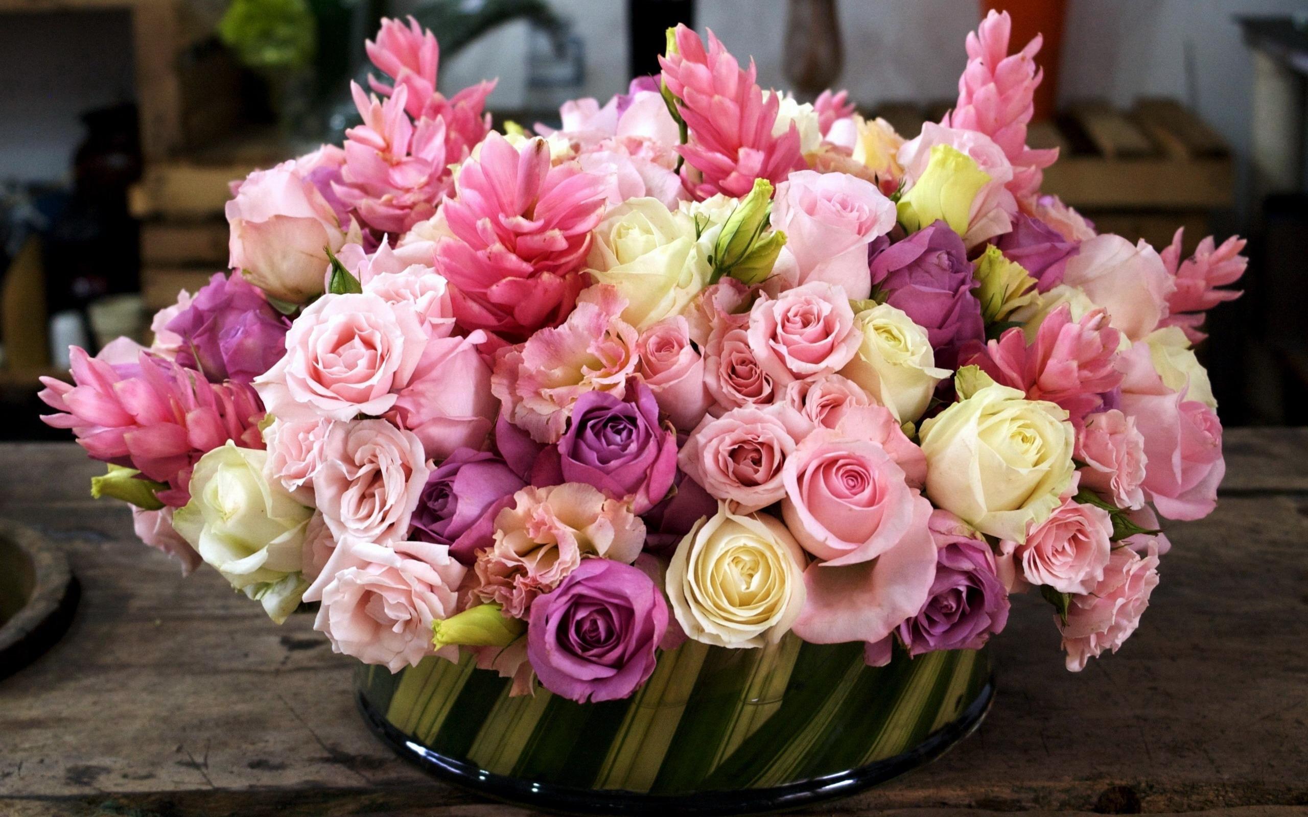 Букеты цветов фото розы 3