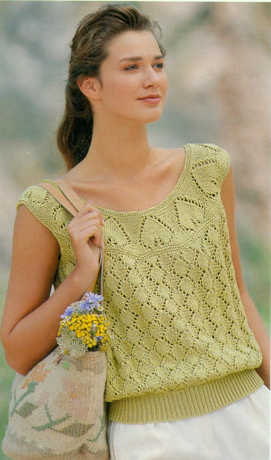 Вязание летних кофточек спицами