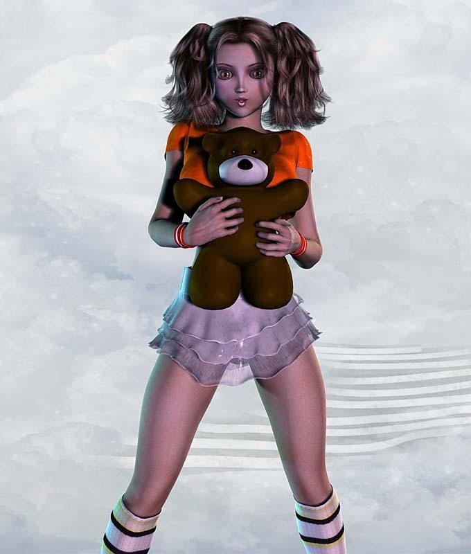 фото девушки на речке голышем