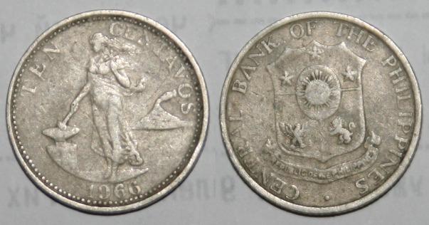 Монеты и банкноты №78  25 сентаво (Филиппины), 1 лира (Турция)