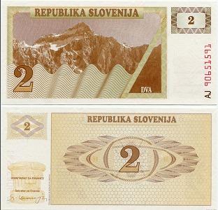 Монеты и купюры мира №33 2 толара (Словения)
