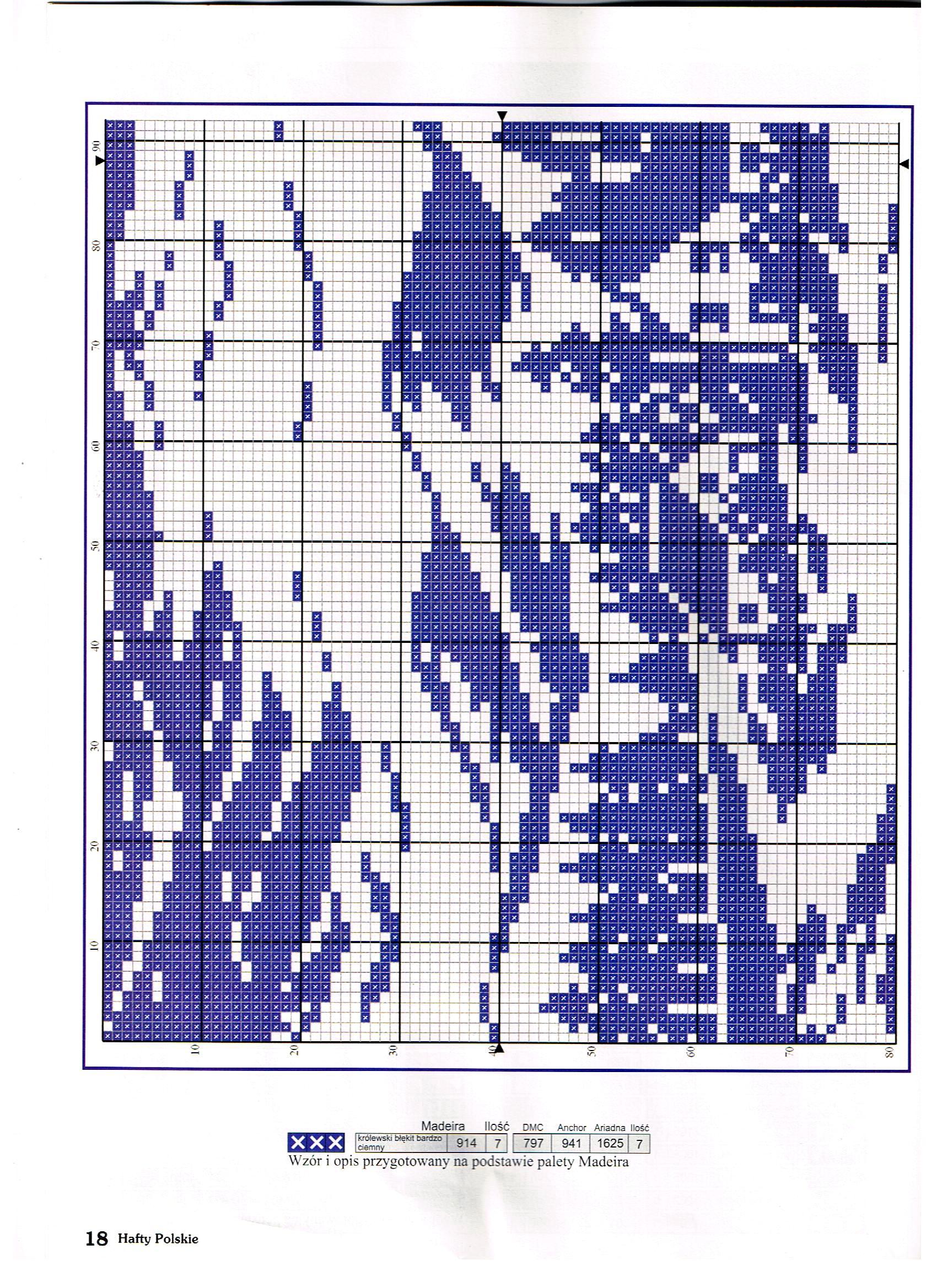 Схемы вышивки монохром