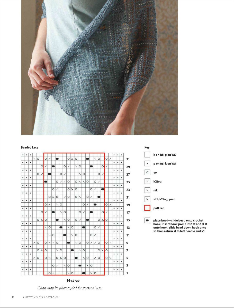 Схема вязания жилета-палантина